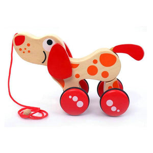 Delightful Wooden Push and Pull Puppy Walker - Montessori Toy Box