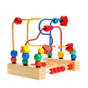 Maze Roller Coaster with Yellow, Blue and Red Spirals - Montessori Toy Box