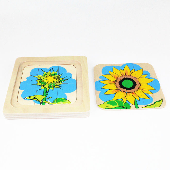 Montessori Sunflower Seed to Flower 3D Puzzle