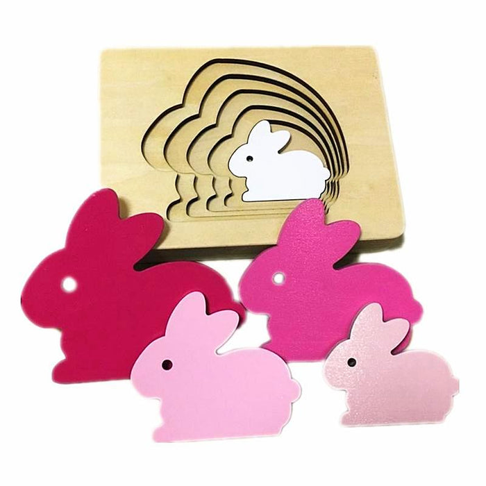 Layered 3D Puzzles with Rabbit, Bird or Whale