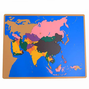 Montessori Puzzle Map of Asia - Montessori Toy Box