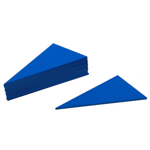 Blue Triangle Learn Fractions Learn Shapes - Montessori Toy Box