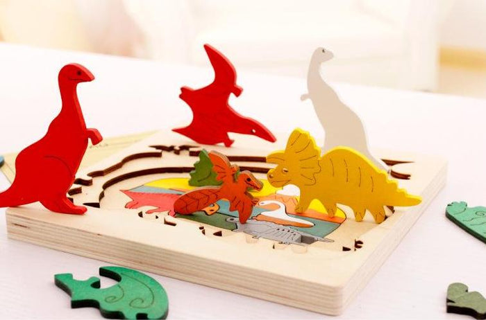 Colorful Multilayer Wooden Storytelling Puzzles