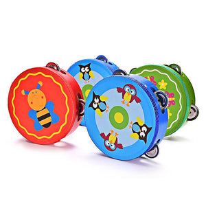 Colorful Baby Tambourine - Montessori Toy Box