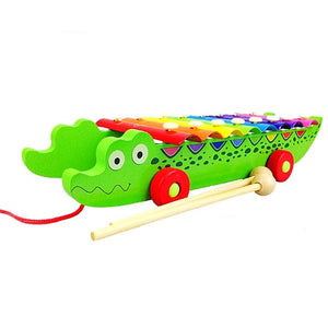 Wooden Crocodile Musical Xylophone - Montessori Toy Box