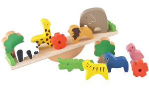 Cute Forest Animals Seesaw Building Blocks - Montessori Toy Box