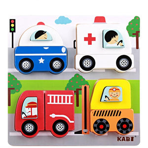 Colorful Baby Puzzles - Montessori Toy Box