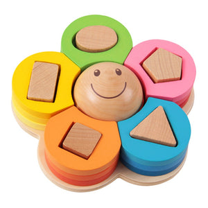 Shape Sorting Flower Puzzle - Montessori Toy Box