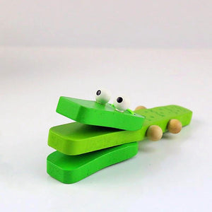 FREE!! Green Clanking Crocodile - Montessori Toy Box