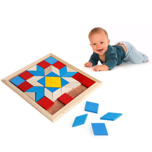 FREE!! Wooden Colorful Puzzle - Montessori Toy Box