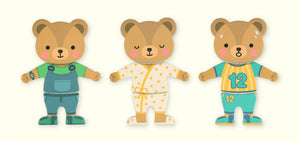 Cartoon Bear Change the Clothes Puzzle - Montessori Toy Box