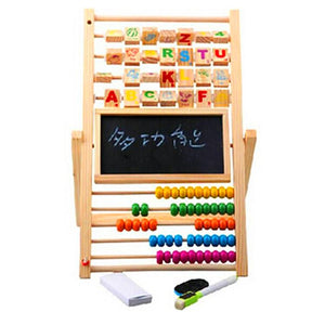 Multifunction Abacus with Black and White Board - Montessori Toy Box