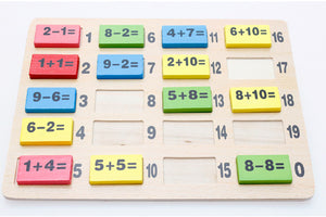 Maths Domino Game - Montessori Toy Box