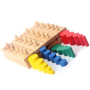 Colorful Socket and Cylinder Intellectual Development Toy - Montessori Toy Box