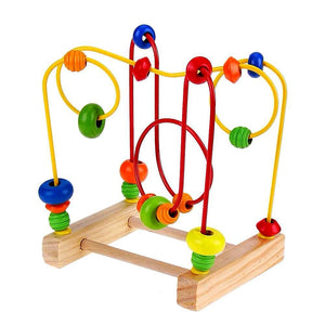 Maze Roller Coaster with Yellow and Red Spirals - Montessori Toy Box