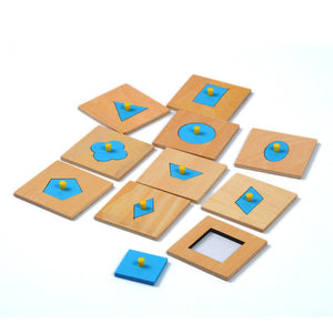 10 Learning Shapes Set - Montessori Toy Box