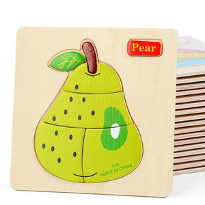 FREE!! Colorful Wooden Baby Puzzle - Montessori Toy Box
