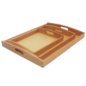 Montessori Materials Wooden Toys Tray [3 Sizes] - Montessori Toy Box