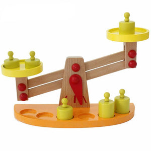 Wooden Balance Beam and Weighing Scale - Montessori Toy Box