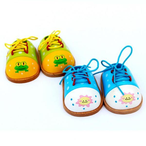 Montessori Tie-Up Practice Shoe [1 Pcs]