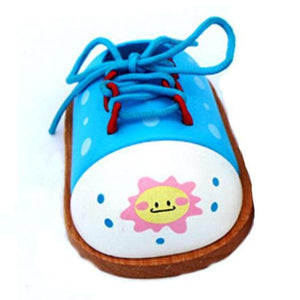 FREE!! Tie-Up Shoe for Preschool Kids Montessori Learn to Dress Toy (1 Pcs) - Montessori Toy Box