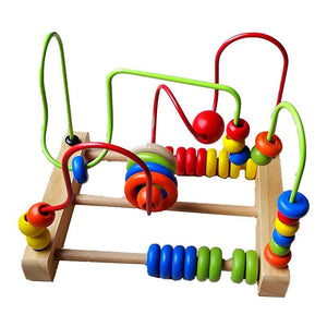 Maze Roller Coaster with Green and Red Spirals - Montessori Toy Box