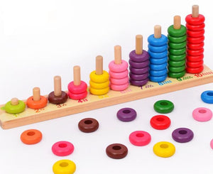 Wooden Educational 55 Bead Counting Toy - Montessori Toy Box