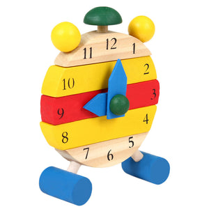 Montessori Wooden Colorful Clock - Montessori Toy Box