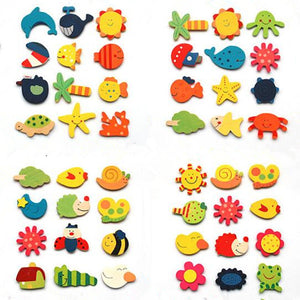 FREE!! Wooden Refrigerator Magnets [12pcs/lot] - Montessori Toy Box