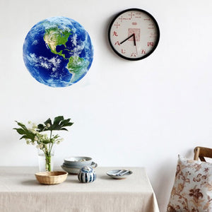Luminous Blue Earth Wall Sticker - Montessori Toy Box