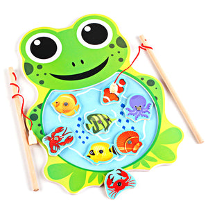 Cute Frog or Cat Magnetic Fishing Game Board - Montessori Toy Box