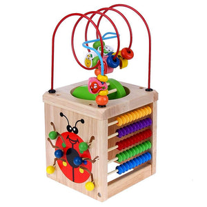 6 in 1 Wooden Cube Activity Center - Montessori Toy Box