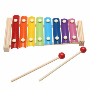 Colorful Wooden Xylophone - Montessori Toy Box