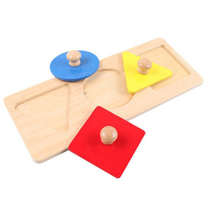 Montessori Learning Shapes - Triangle Circle Square - Montessori Toy Box