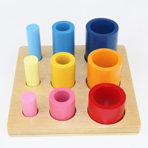 Montessori Learn 3D Solid Circles and Cylinders - Montessori Toy Box
