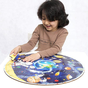Large Puzzle of the Solar System - Montessori Toy Box