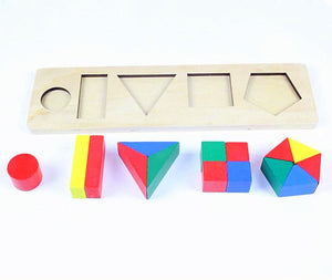 Montessori Learn Fractions and Shapes - Montessori Toy Box
