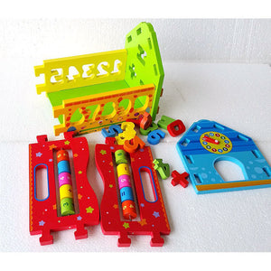 Baby Shape Numbers Sorting House - Montessori Toy Box