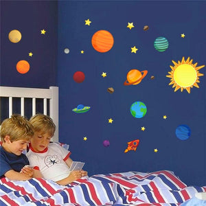FREE!! Solar System and Planets Kids Wall Decals - Montessori Toy Box