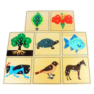 Flower Plant and Animal Montessori Science Puzzles - Montessori Toy Box