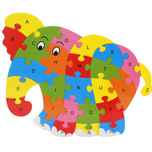 FREE!! Wooden Animal Alphabet Puzzle - Montessori Toy Box