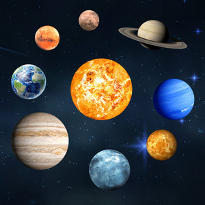 Solar System Planets Fluorescent Wall Stickers - Montessori Toy Box