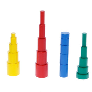 Montessori Wooden Cylinders Educational Toy - Montessori Toy Box