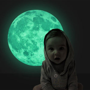 Glowing Moon Wall Stickers - Montessori Toy Box