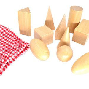 Geometric Solids in Mystery Bag - Montessori Toy Box