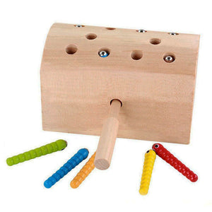 Magnetic Catch the Worms Game - Montessori Toy Box