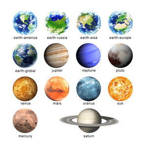 Amazing Planets Fluorescent Wall Stickers - Montessori Toy Box