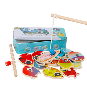 Let's Catch the Fish Magnetic Fishing Game in Tin Box - Montessori Toy Box