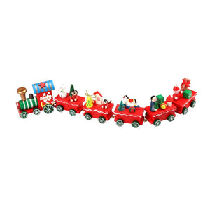 Christmas Gift 6 Pieces Wood Christmas Xmas Train Decoration brinquedos toys for children Diecasts & Toy Vehicles 2016.11 - Montessori Toy Box