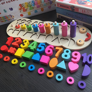 Happy Caterpillar Learn To Count with Numbers, Rings and Shapes